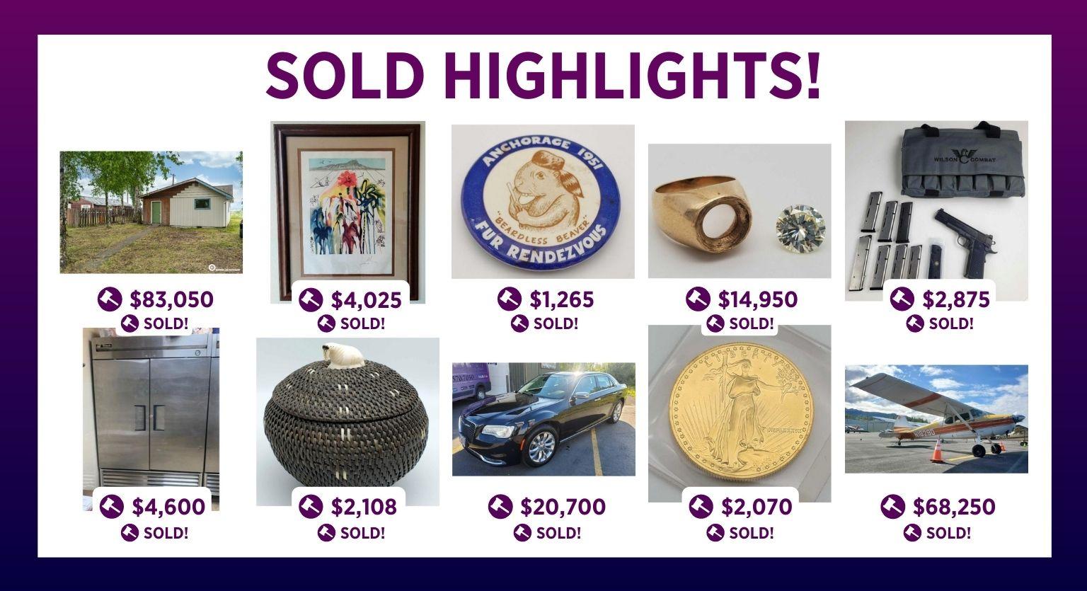 Alaska Premier Auctions & Appraisals Sold Highlights