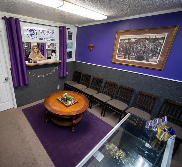 Alaska Premier Auctions & Appraisals Reception Interior