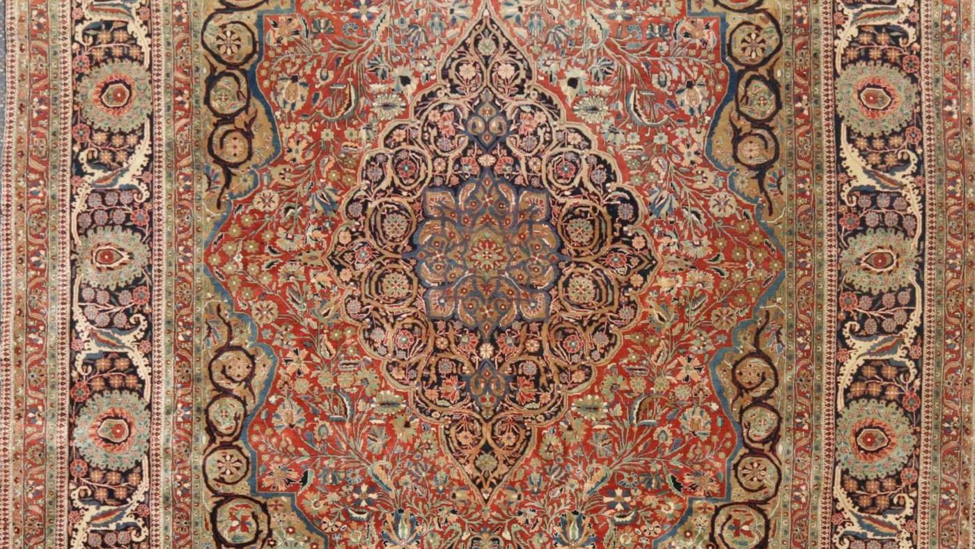 1074-1 kashan handknotted rug 40800