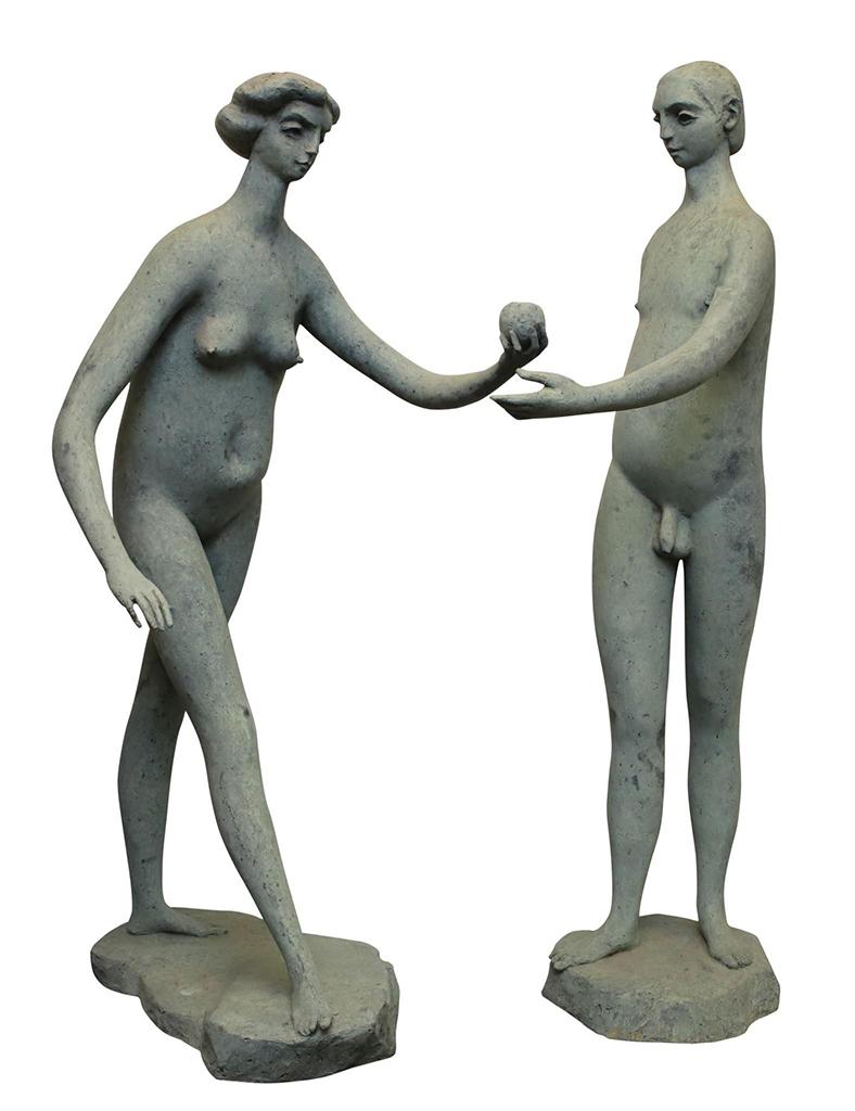 adam and eve sculpture