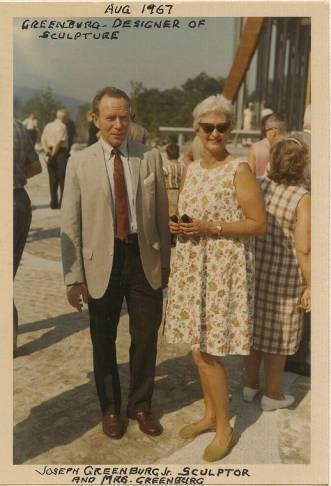 Mr. and Mrs. Greenberg at The Symbol of Progress ceremony