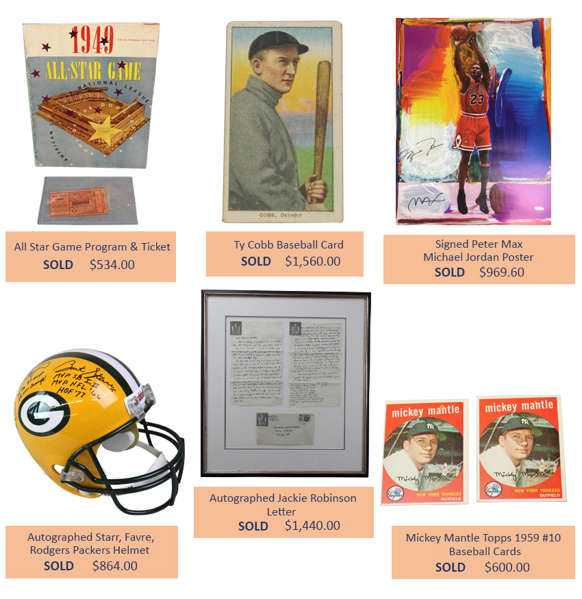 Alderfer Auction sports memorabilia highlights