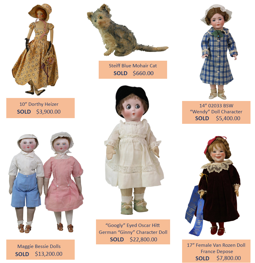 Alderfer Auction doll and toy highlights