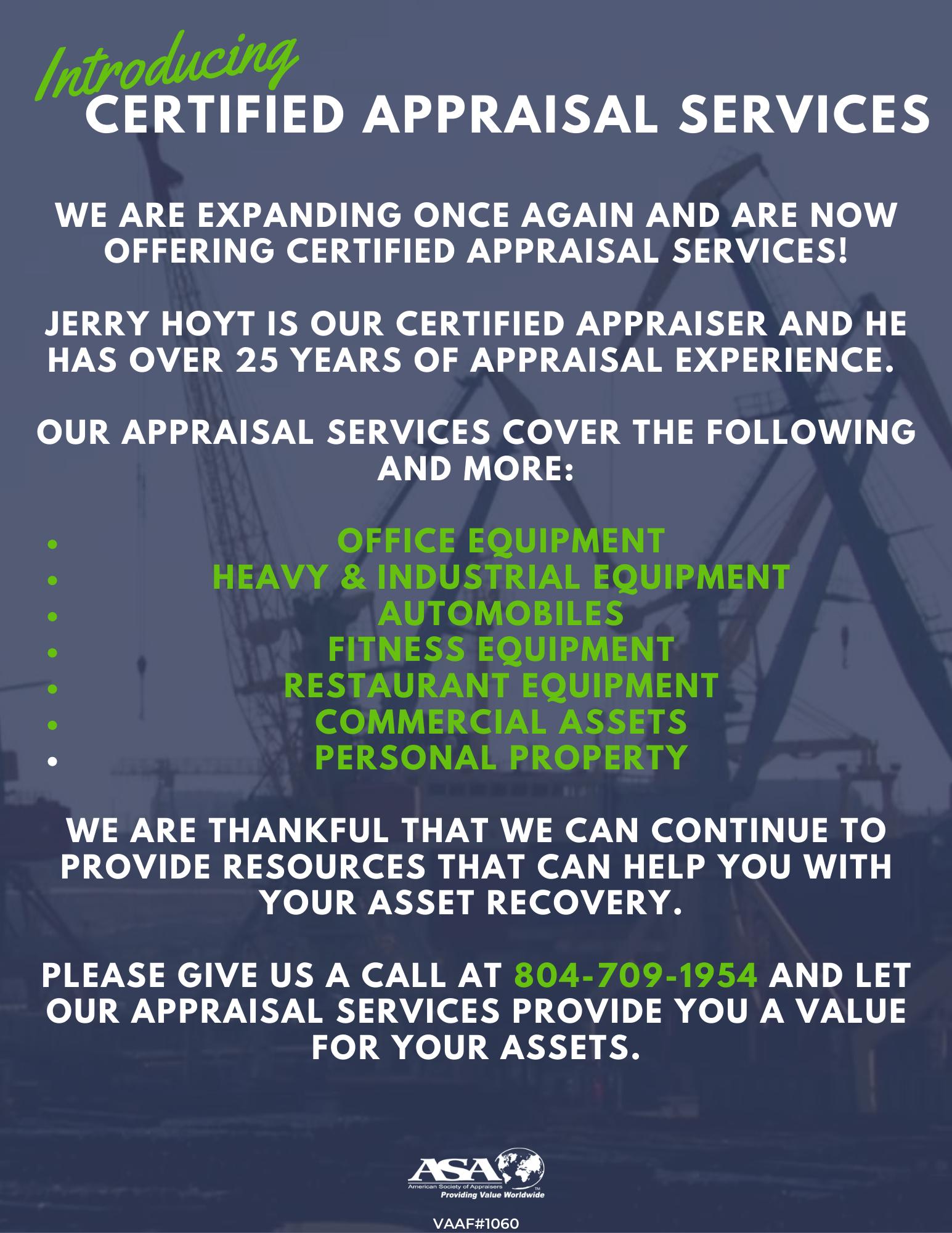 Appraisal services Richmond VA