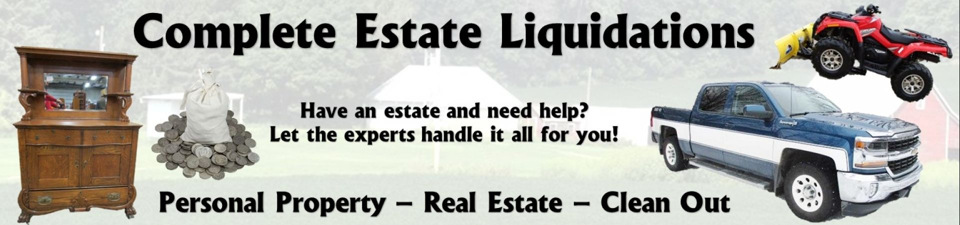 Estate liquidation banner