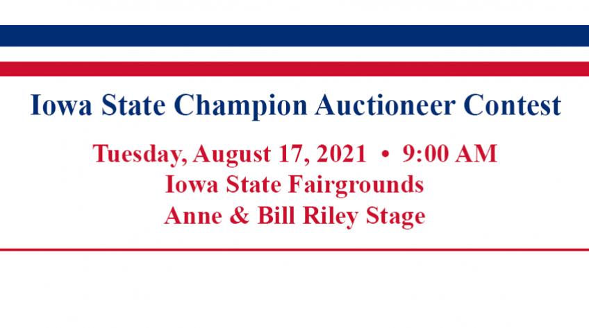 2021 iaa auctioneer contest banner