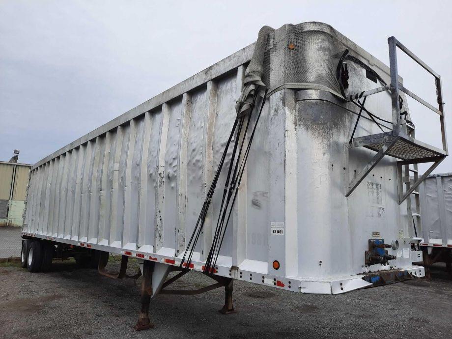 Image for BROKERAGE SALE   1997 JJ 45' Open Top Aluminum Trash Trailer   Purchase On Site