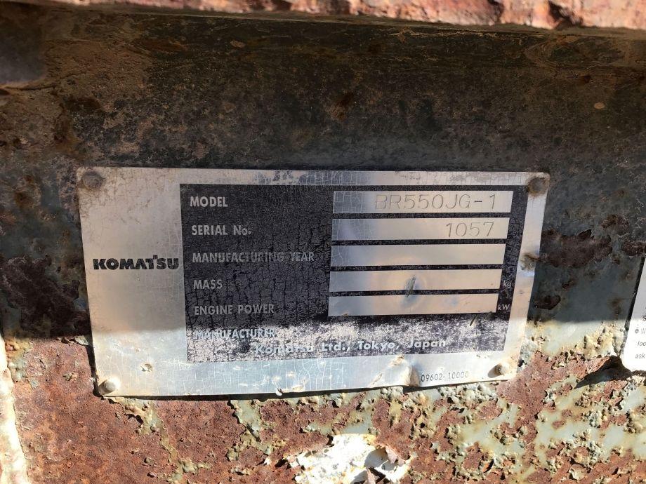 Image for BROKERAGE SALE   Komatsu BR550JG-1 Crawler Jaw Crusher   Purchase On Site