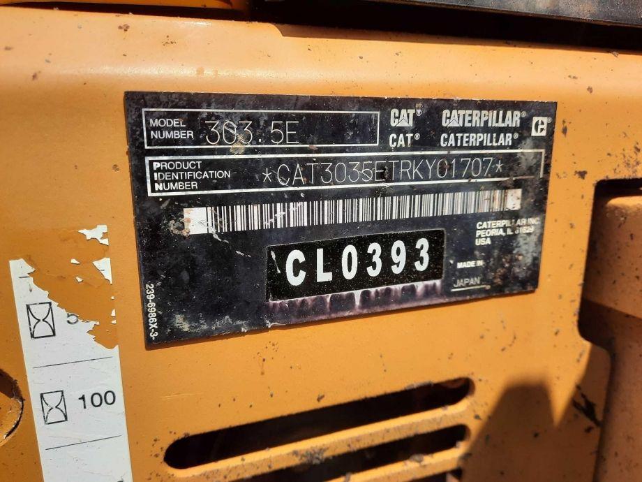 Image for 2013 CATERPILLAR 303.5E CR MINI EXCAVATOR