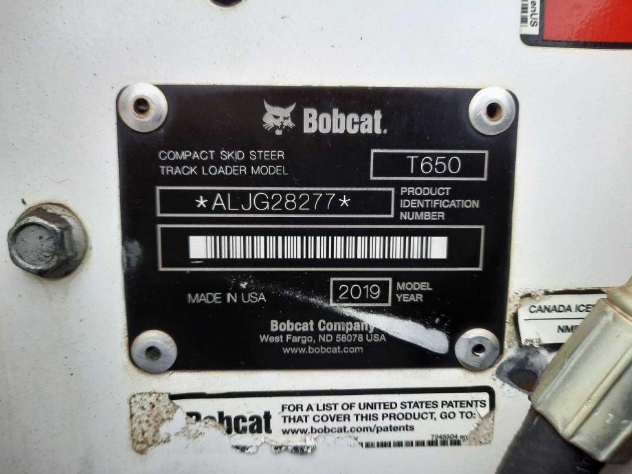 Image for 2018 Bobcat T650 Compact Track Loader