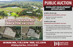 Image for 12 Waterfront Lots | Lancaster, VA
