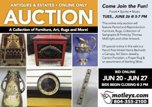 Image for Antiques & Estates Auction