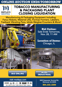 Image for Tobacco Manufacturing & Packaging Plant Liquidation
