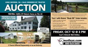 Image for Historic Home on 76± AC | King George, VA