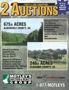 Image for 2 Land Auctions | Albemarle County & Fluvanna County, VA