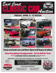 Image for East Coast Classic Car Auction