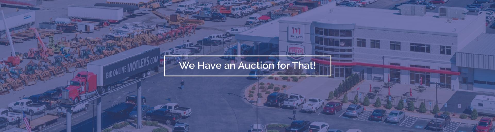 We have an auction slider