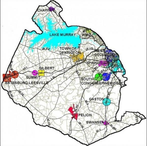 Lexington map  detail