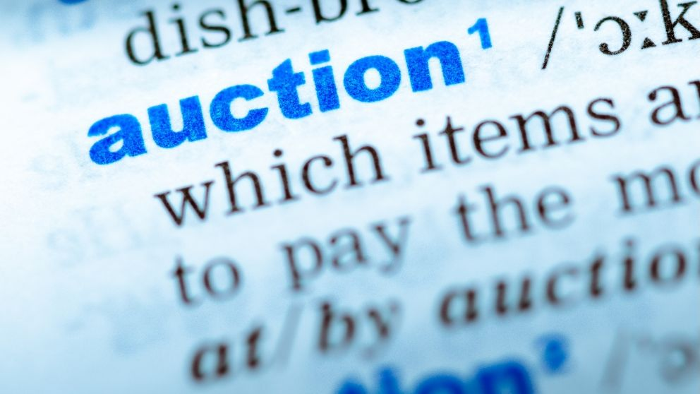 Auction dictionary definition