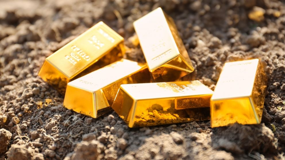 Gold bars land