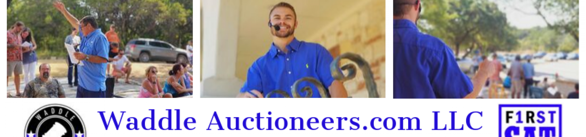 Waddle auctioneers.com llc - fb banner